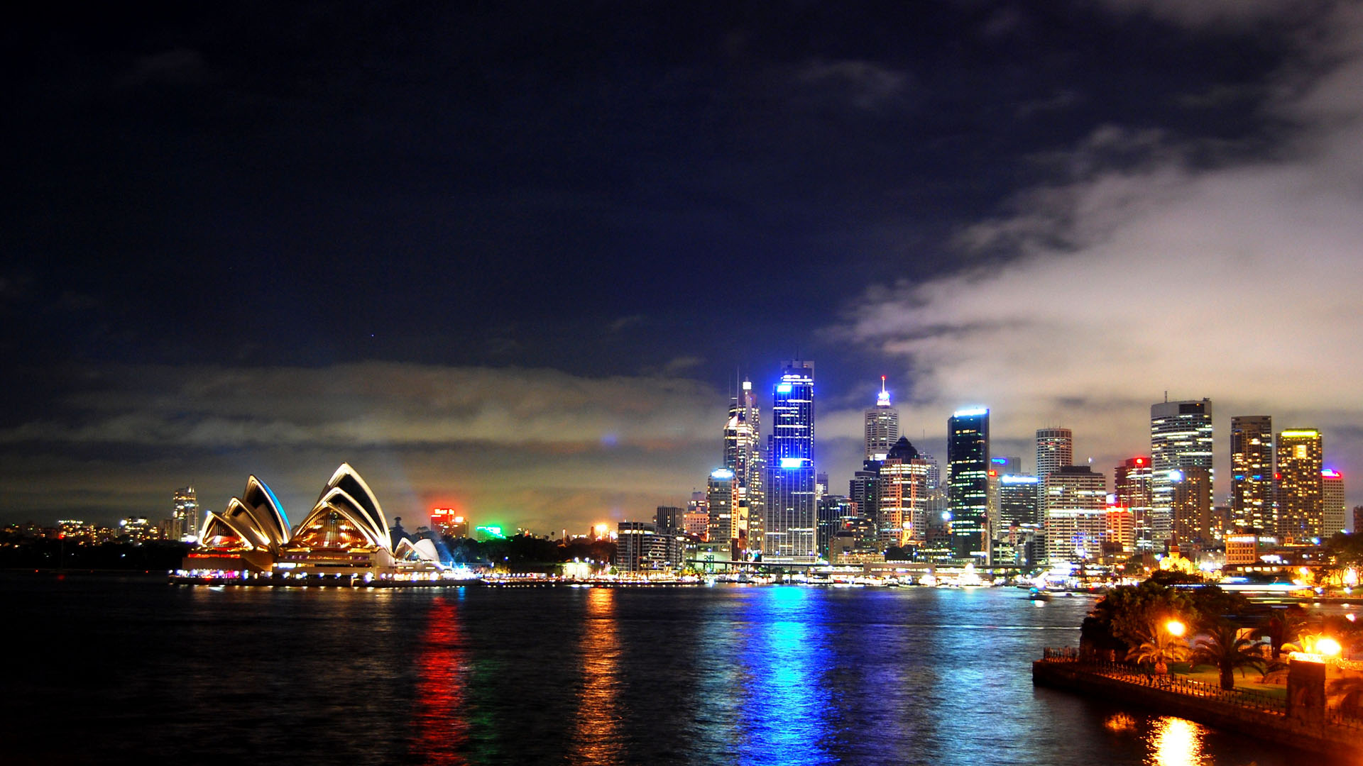 Sydney Harbour bei Nacht Wallpaper